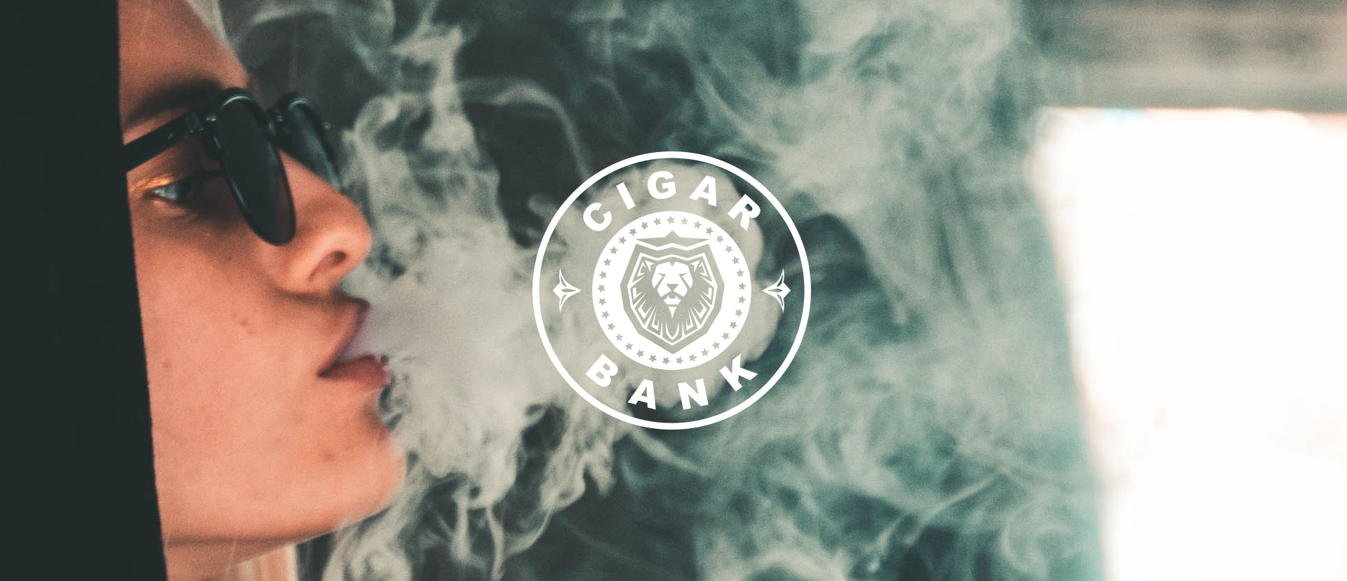CIGAR BANK logo created by margos bites