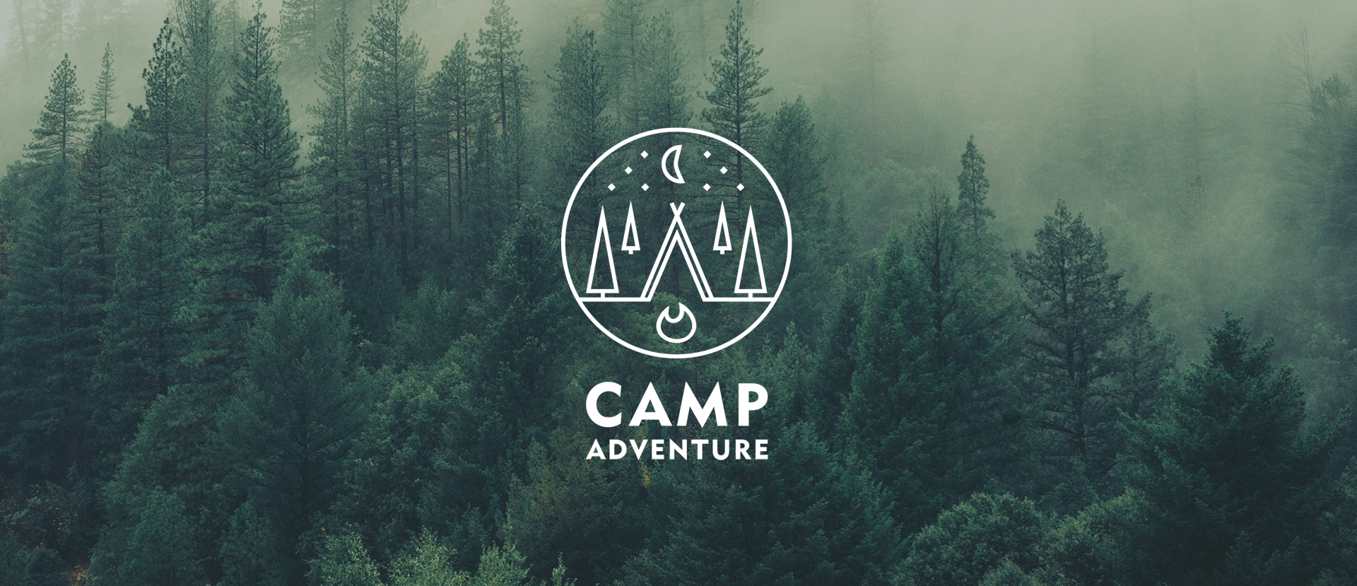 Camp adventure logo created by margos bites